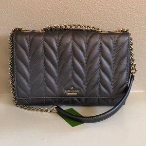 kate spade gunmetal purse crossbody shoulder bag